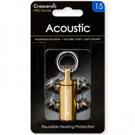 Tapones Crescendo Pro Acoustic 15 especiales para jazz.